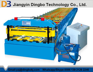 Trapezoidal Profile Floor Deck Roll Forming Machine With Color Coated