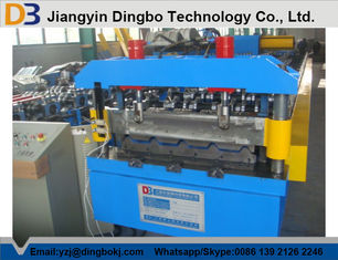 5.5kw Roof Panel Roll Forming Machine With 18 Stations + / - 0.5mm Cutting Length Tolerance